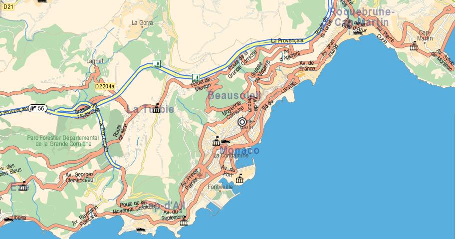 Plan d'accès Beausoleil