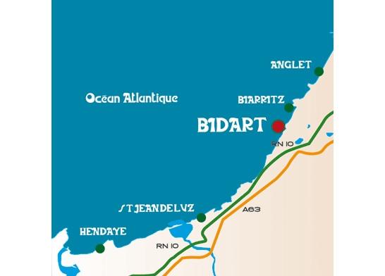 Plan d'accès Bidart