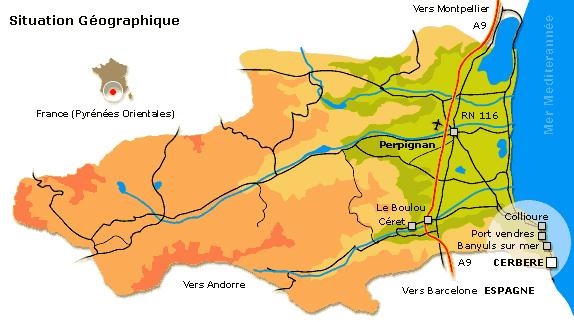 Plan d'accès Cerbère
