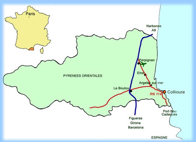Plan d'accès Collioure