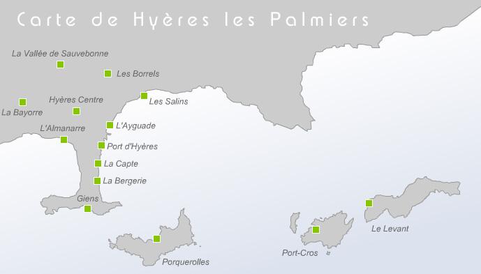 Plan d'accès Hyères-les-Palmiers