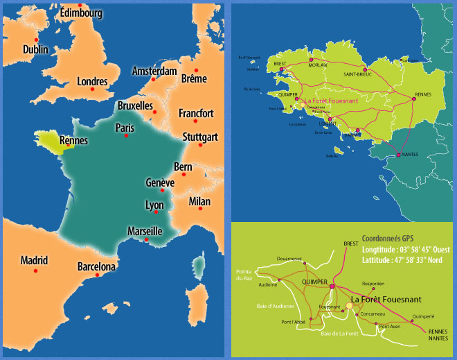Plan d'accès La Forêt-Fouesnant