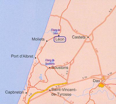 Plan d'accès Léon