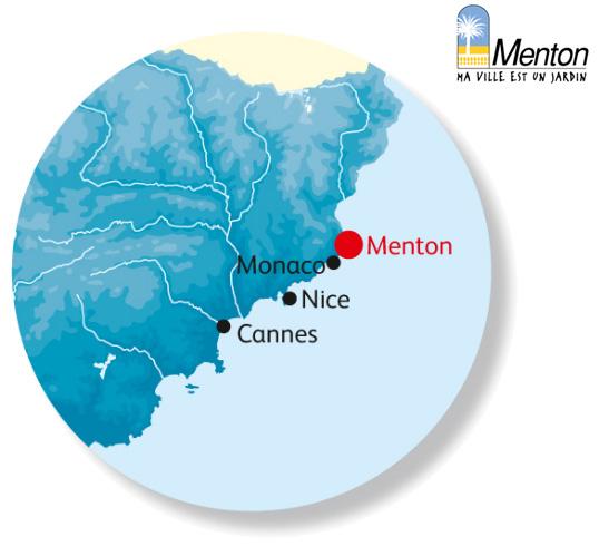 Plan d'accès Menton