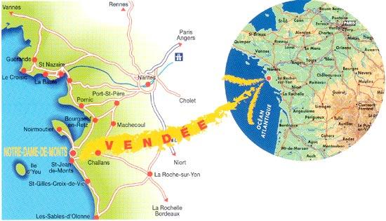 Plan d'accès Notre-Dame-de-Monts