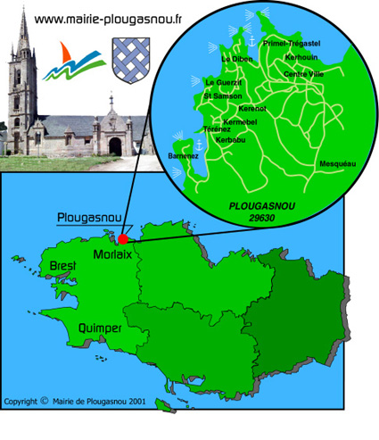 Plan d'accès Plougasnou