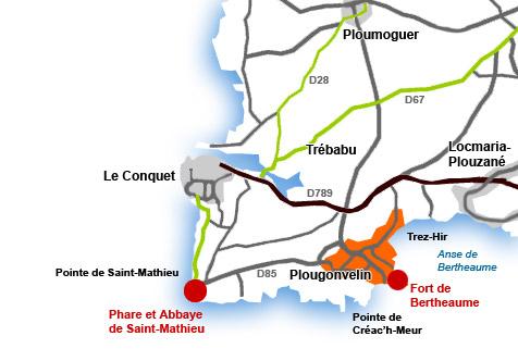 Plan d'accès Plougonvelin