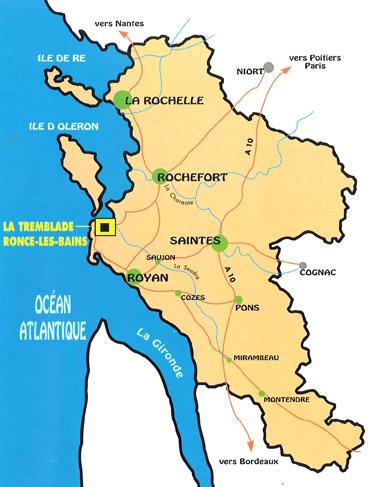 Plan d'accès Ronce-les-Bains