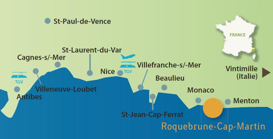 Plan d'accès Roquebrune-Cap-Martin