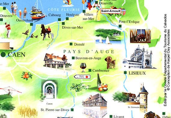 Plan d'accès Saint Arnoult