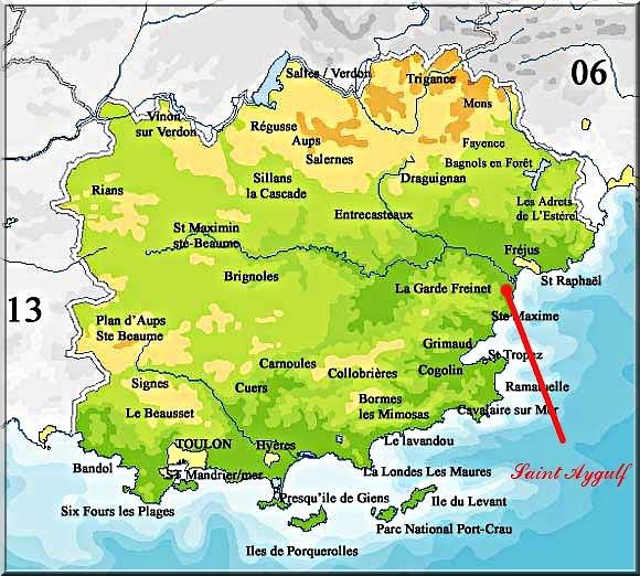 Plan d'accès Saint-Aygulf