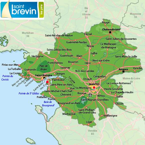 Plan d'accès Saint Brévin l'Océan
