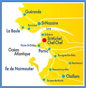 Plan d'accès Saint-Michel-Chef-Chef