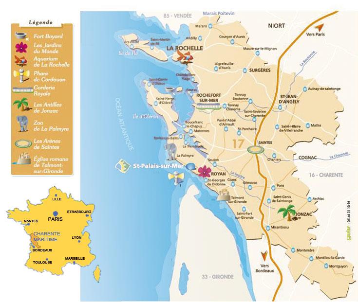 Plan d'accès Saint-Palais-sur-Mer