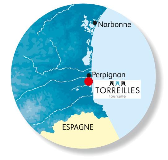 Plan d'accès Torreilles