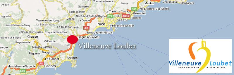 Plan d'accès Villeneuve-Loubet